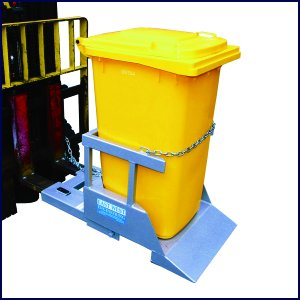 forklift attachment wheelie bin tipper